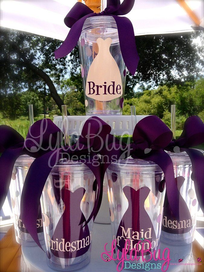 Bridal party gifts acrylic tumblers are perfect for drinks while bridal party gifts acrylic tumblers are perfect for drinks while getting ready on your big day bridesmaid cupsbridesmaid gifts diywedding solutioingenieria Choice Image