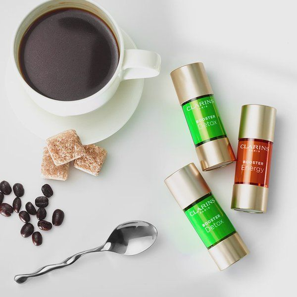 """Sephora on Twitter: """"Caffeine is as good for your skin as it is for your to-do list. @ClarinsNews energizes and detoxes with its skin boosters #NationalCoffeeDay https://t.co/d7xP8MJWkX"""""""