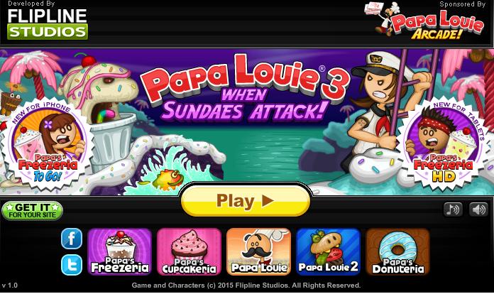 Papa Louie 3 Hacked Https Sites Google Com Site Besthackedgames Papa Louie 3 Louie Funny Jokes Papa