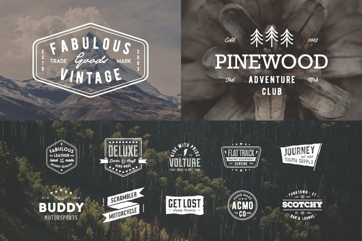 18 Simple Vintage Badge Templates AI EPS PSD