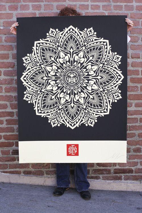 Gigantor Mandala Prints by Shepard Fairey