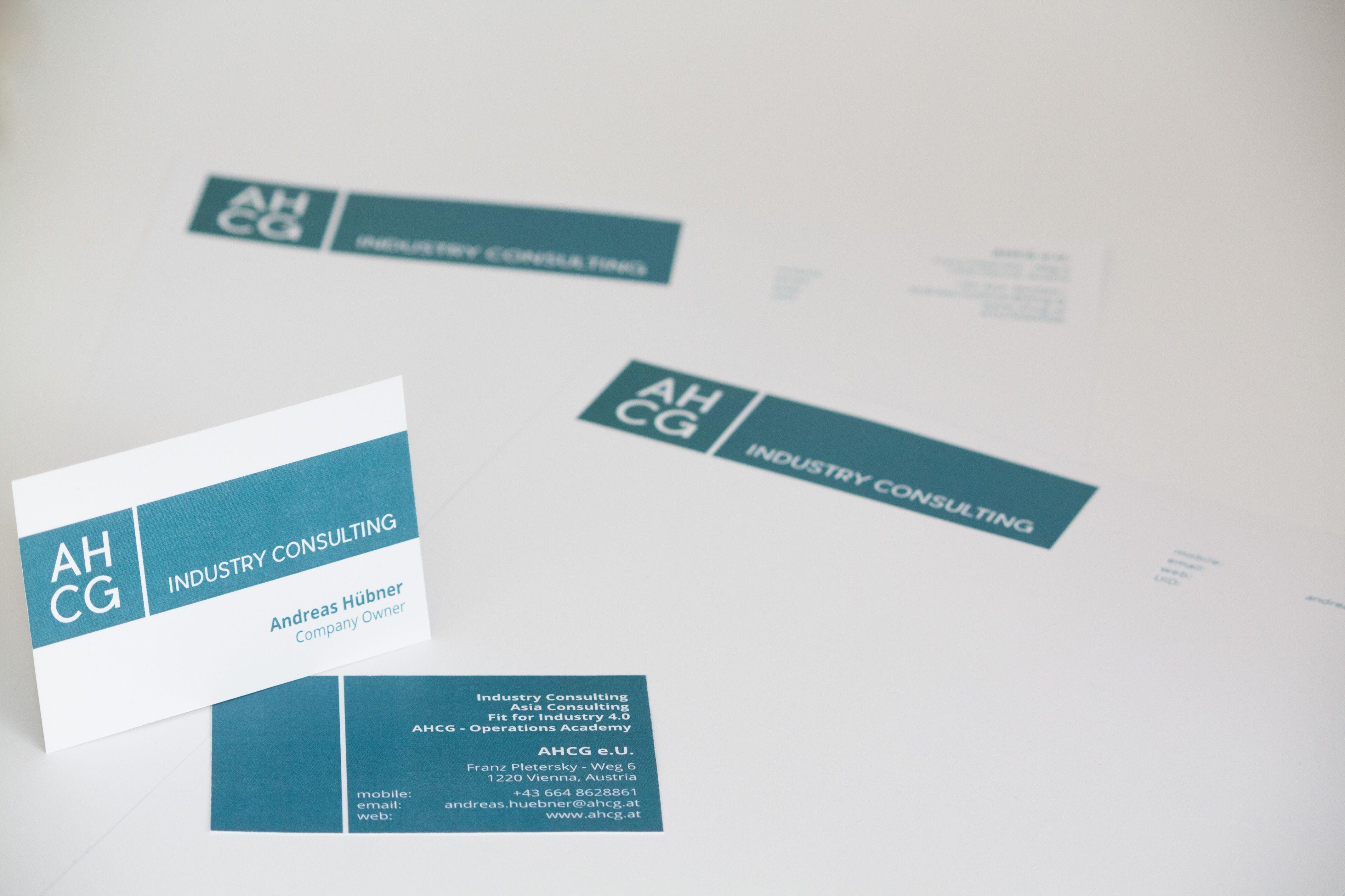 Visitenkarten Consulting Unternehmensberatung Türkis