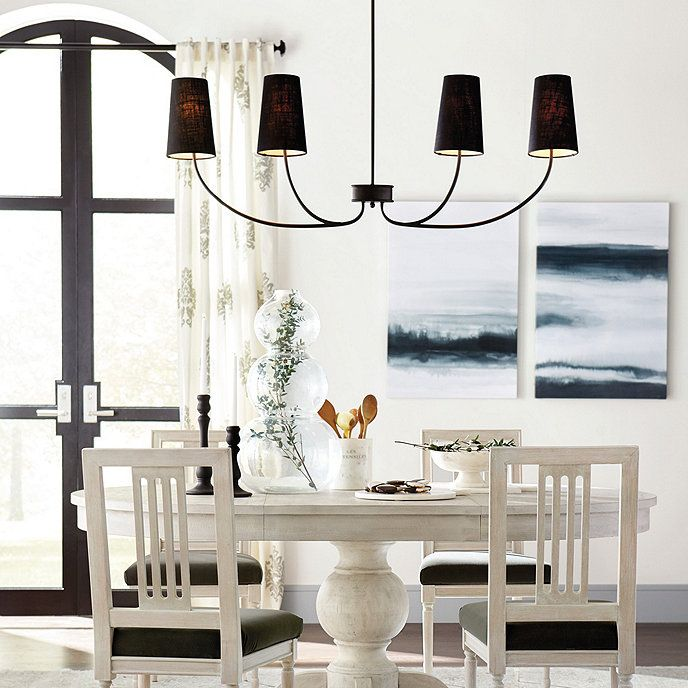 Dining Room Chandelier, What Size Linear Chandelier For Dining Room