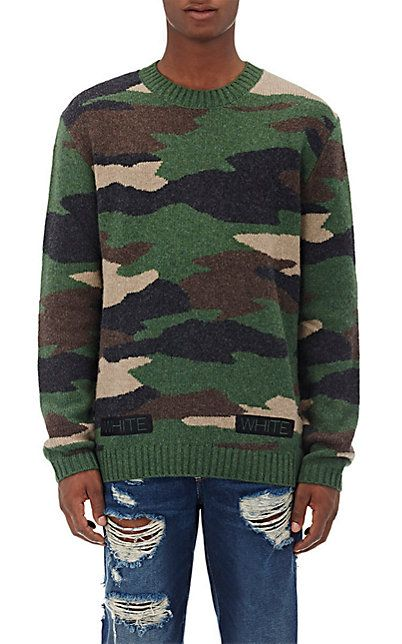 Off White Co Virgil Abloh Camouflage Wool Sweater Fallwinter