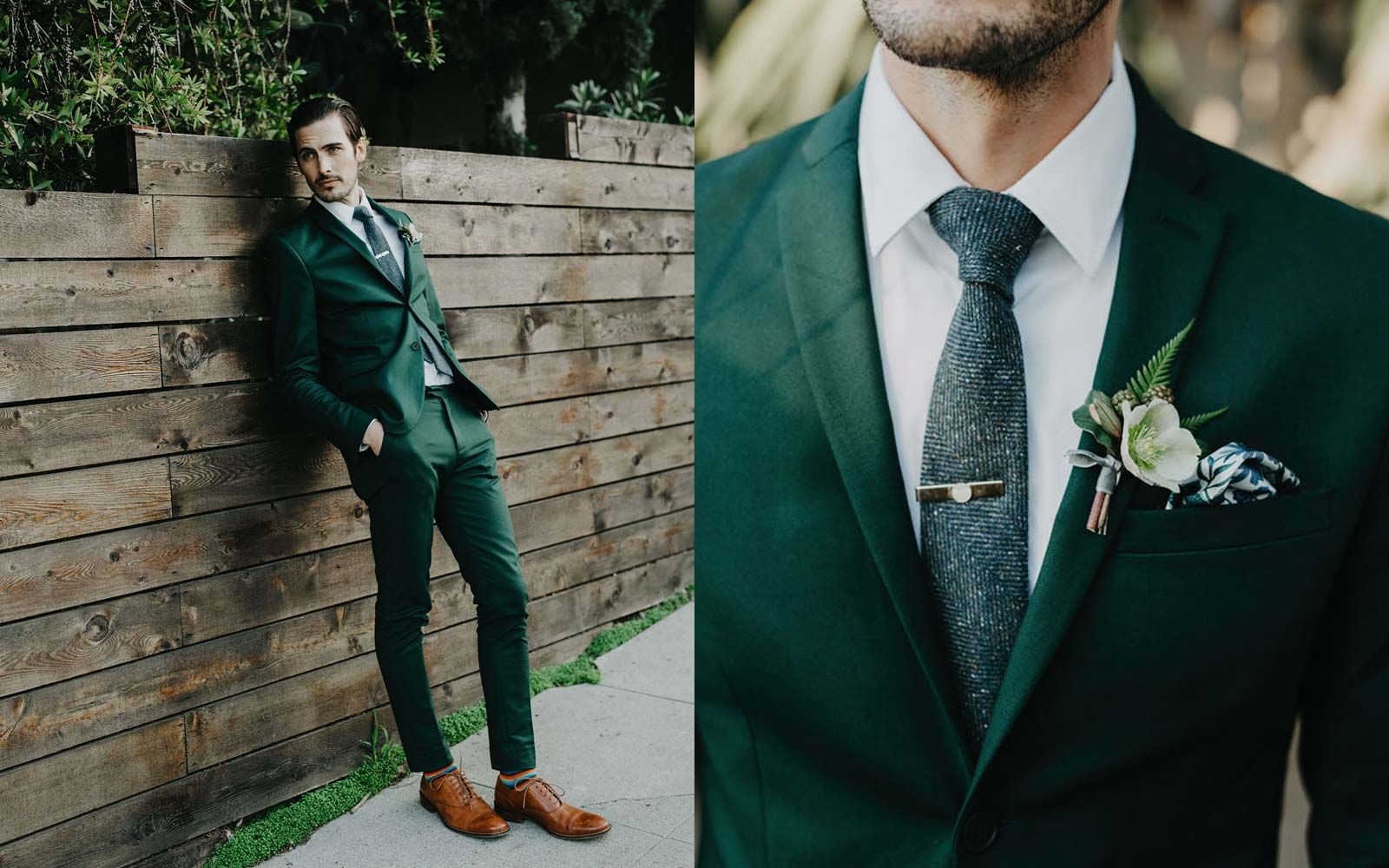 The Colors of Summer Emerald & Green Green wedding suit
