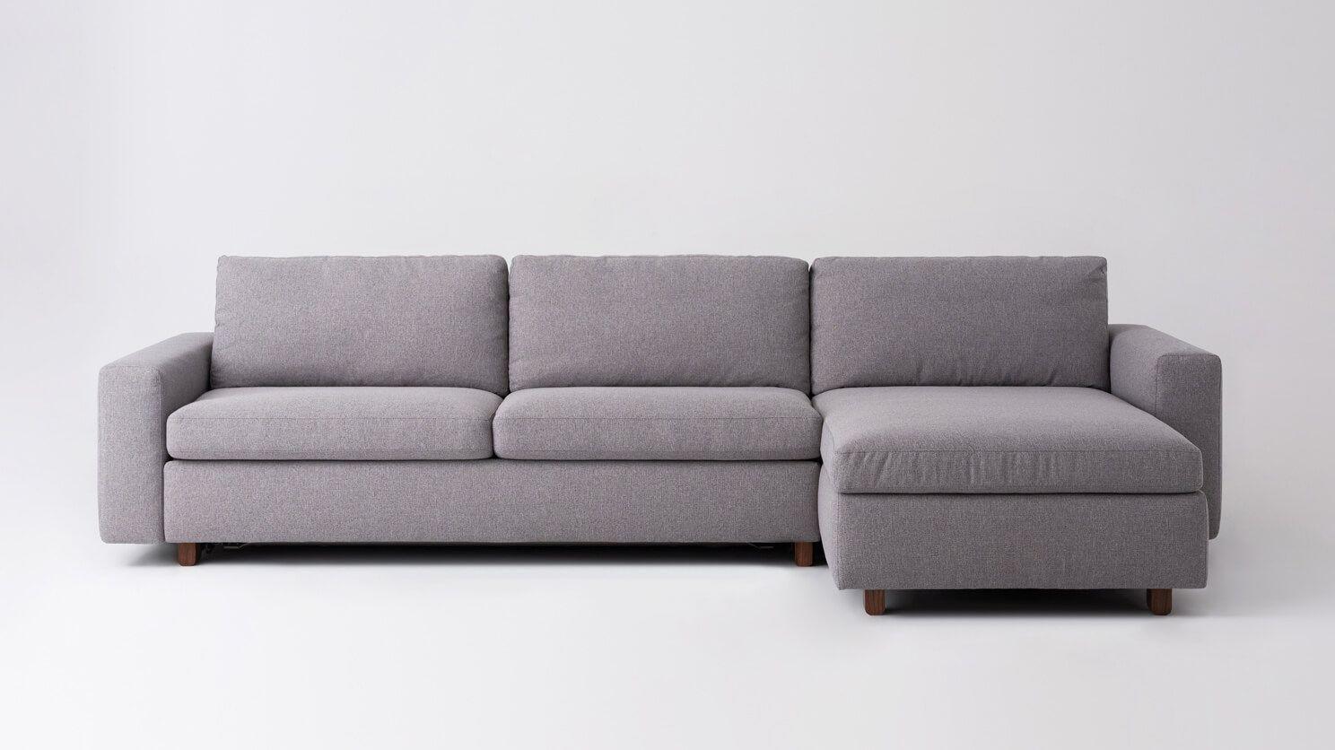 Reva 2 Piece Sectional Sleeper Sofa With Storage Chaise Fabric Eq3 Storage Chaise Sectional Sleeper Sofa Sectional