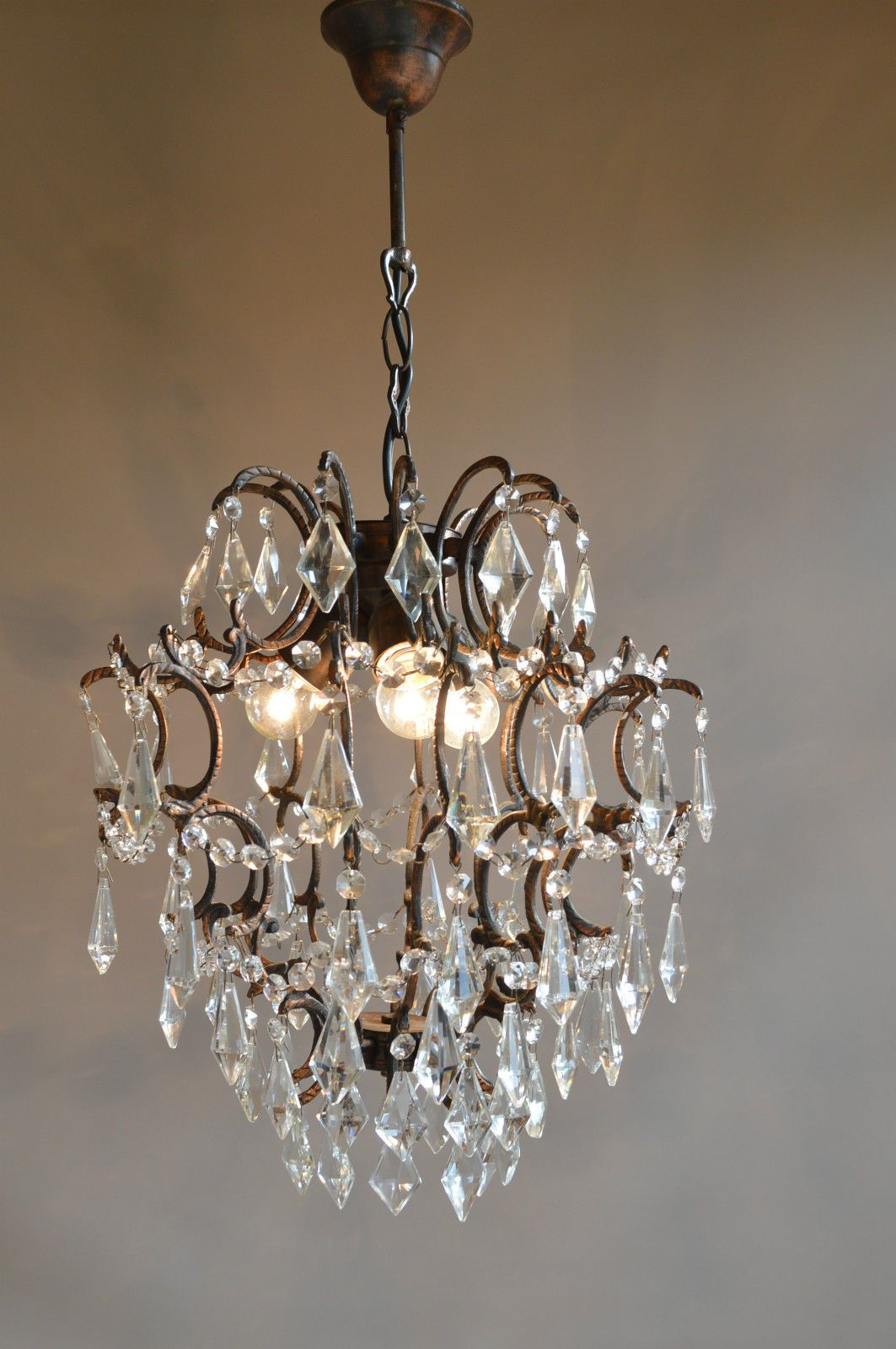 Unique Antique French Style Vintage Crystal Chandelier Lighting