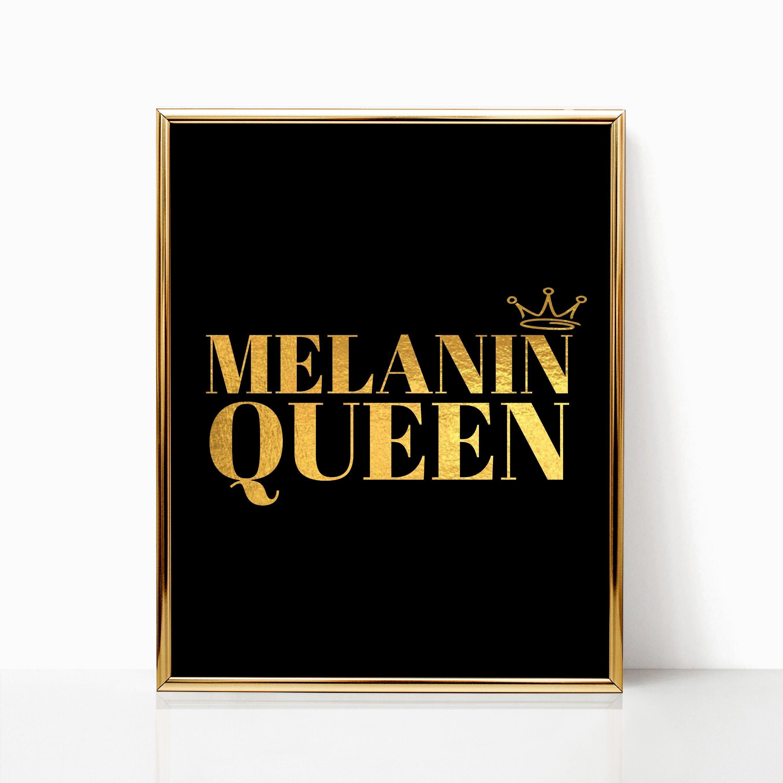 Black Girl Magic Word Art Melanin Queen Wall Decor Home Decor Gift For Her Black Girl Magic Wall Art Printable Art Motivational Word Art Melanin Queen Black Girl Art