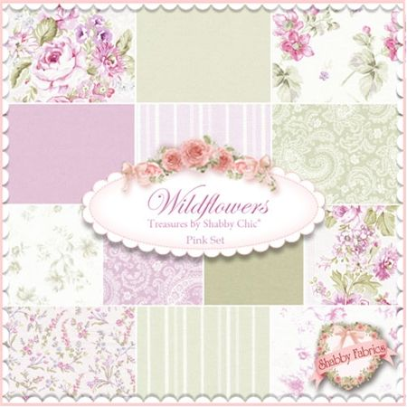 Enjoyable Wildflowers Fabric Pink Set By Rachel Ashwell For Treasures Home Interior And Landscaping Ologienasavecom
