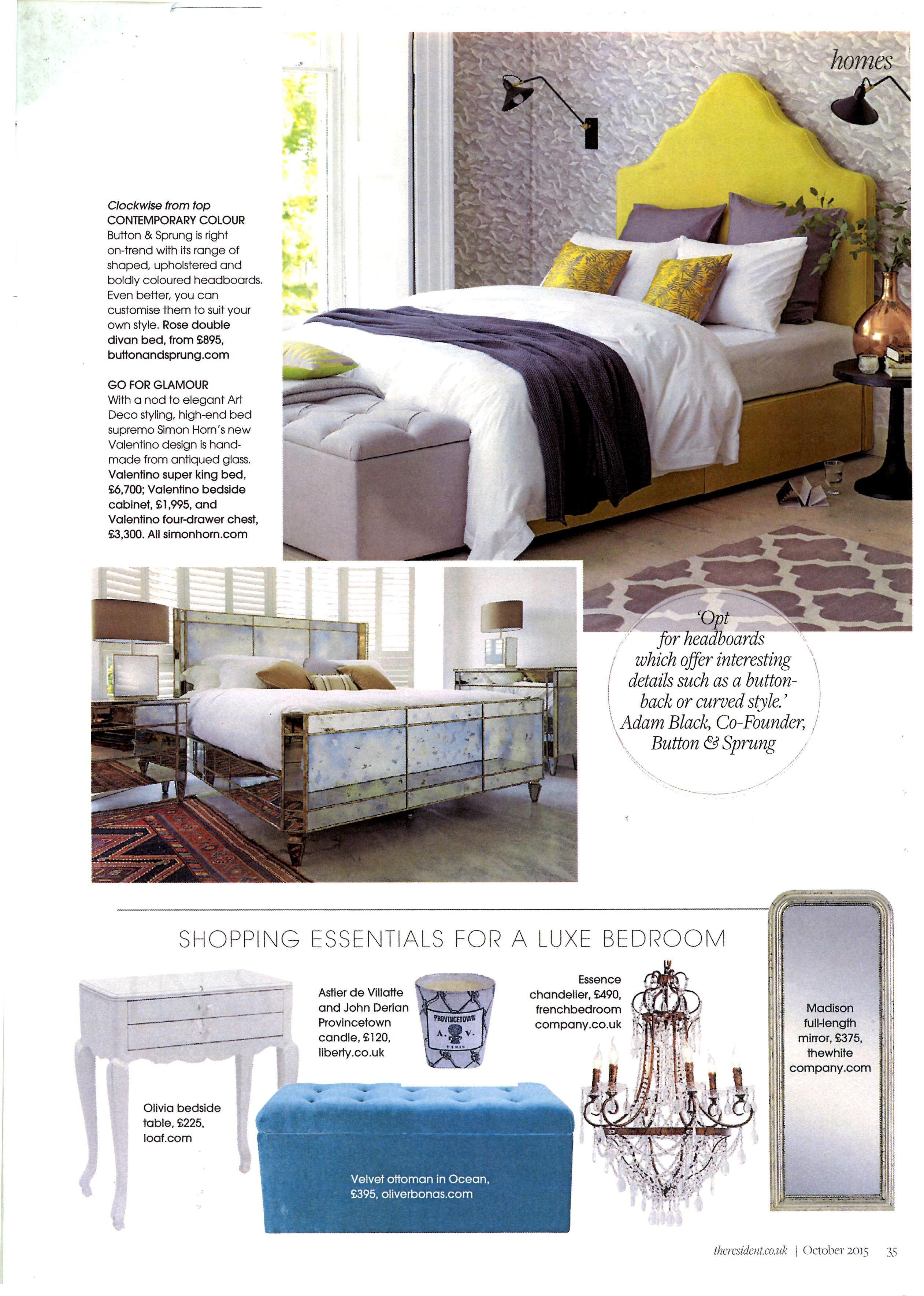 Simon Horn S Glamorous Mirrored Valentino Bed Simonhorn Com Listed