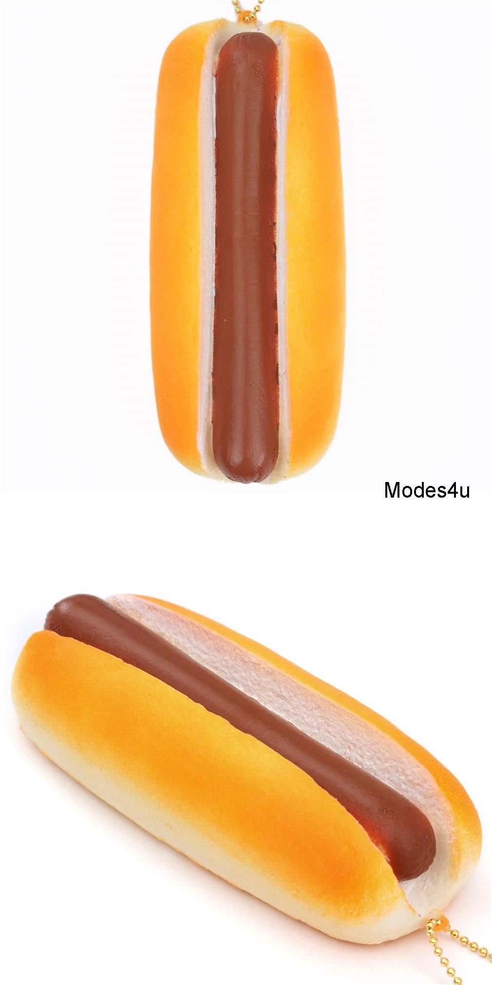Cute Hot Dog Food Squishy Charm Kawaii Cafe De N Dog Food