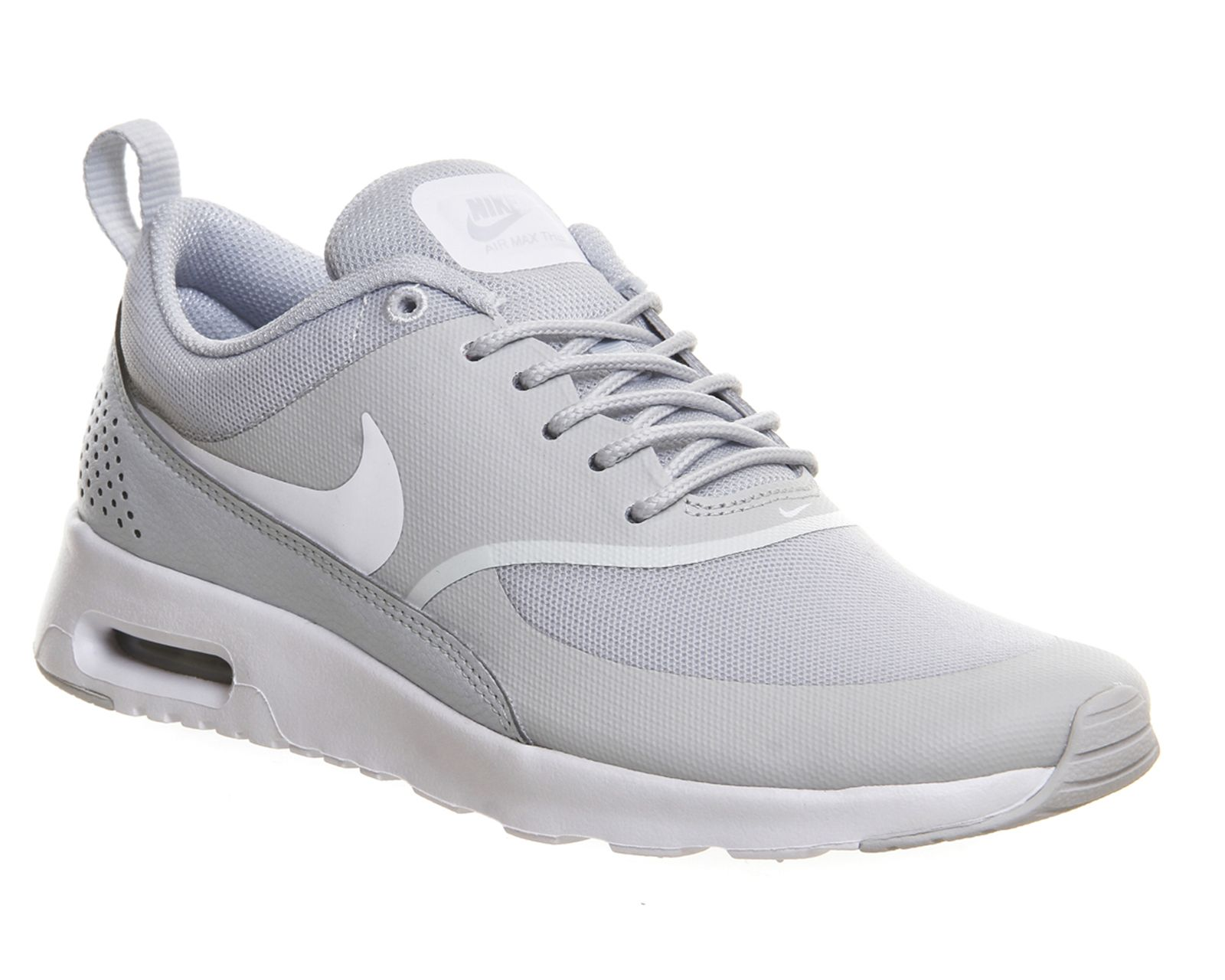 Nike Air Max Thea Black Wolf Grey White Print Office Girl