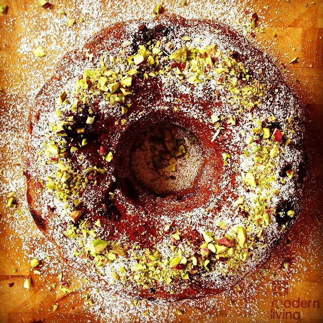 {RECIPE OF THE DAY} pistachio & cherry bundt cake  Find more delicious recipes at mylovelylittlelunchbox.com