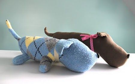 These are too cute!~sock dog tutorial