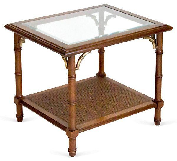 Lane Furniture Faux-Bamboo Table   Vintage Style   One Kings Lane ...