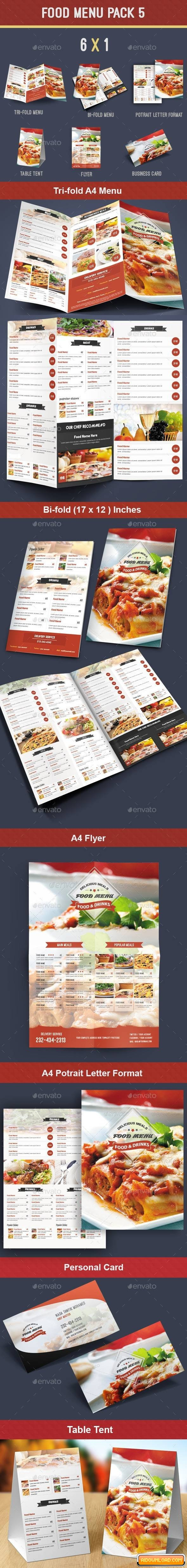 Food Menu Pack 5 Free Download | Free Graphic Templates, Fonts ...
