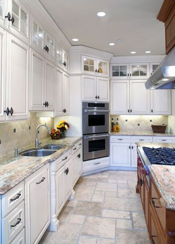 Best Small Cabinets Added On Top Of Originals Kitchen Layout 400 x 300