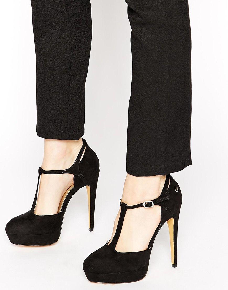 Blink Platform T Bar Heeled Shoes at
