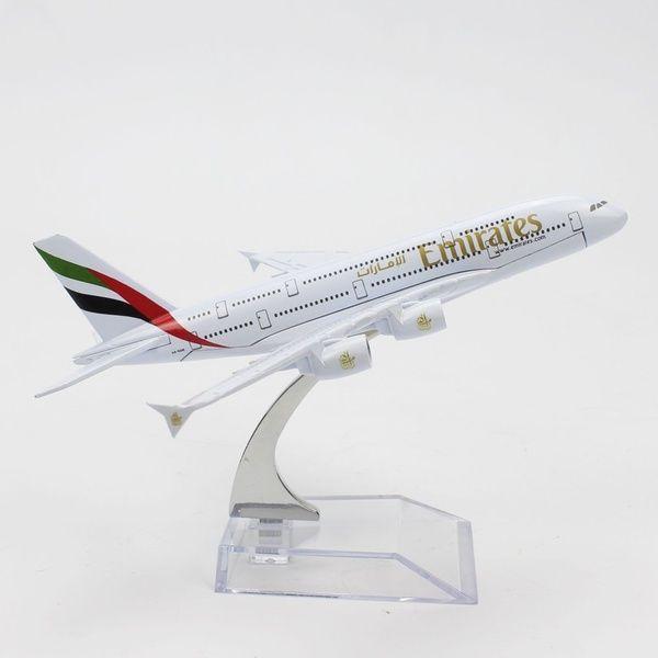 New 16cm Diecast Model Airbus380 Emirates Airlines A380