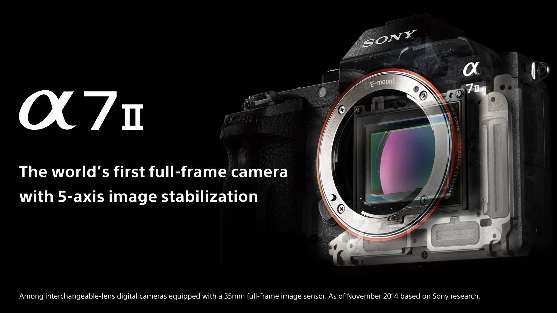 Sony Announces the a7II: The World's First Full-Frame Camera with 5-Axis Image Stabilization