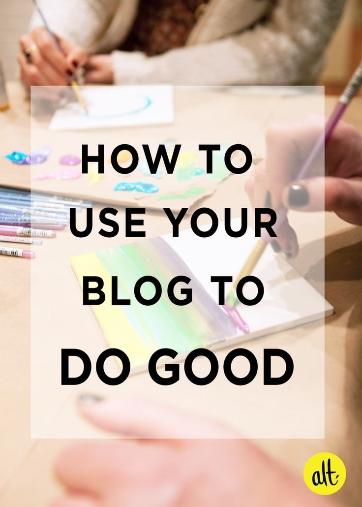 You don't need to be big to make a difference to a cause you're passionate about. Five tips to get started using your blog to do good today.