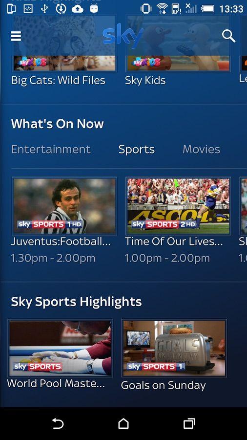 Sky Go Sports