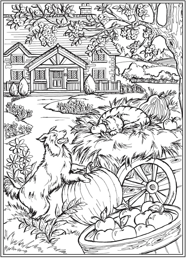 Welcome To Dover Publications Fall Coloring Pages Abstract Coloring Pages Farm Animal Coloring Pages