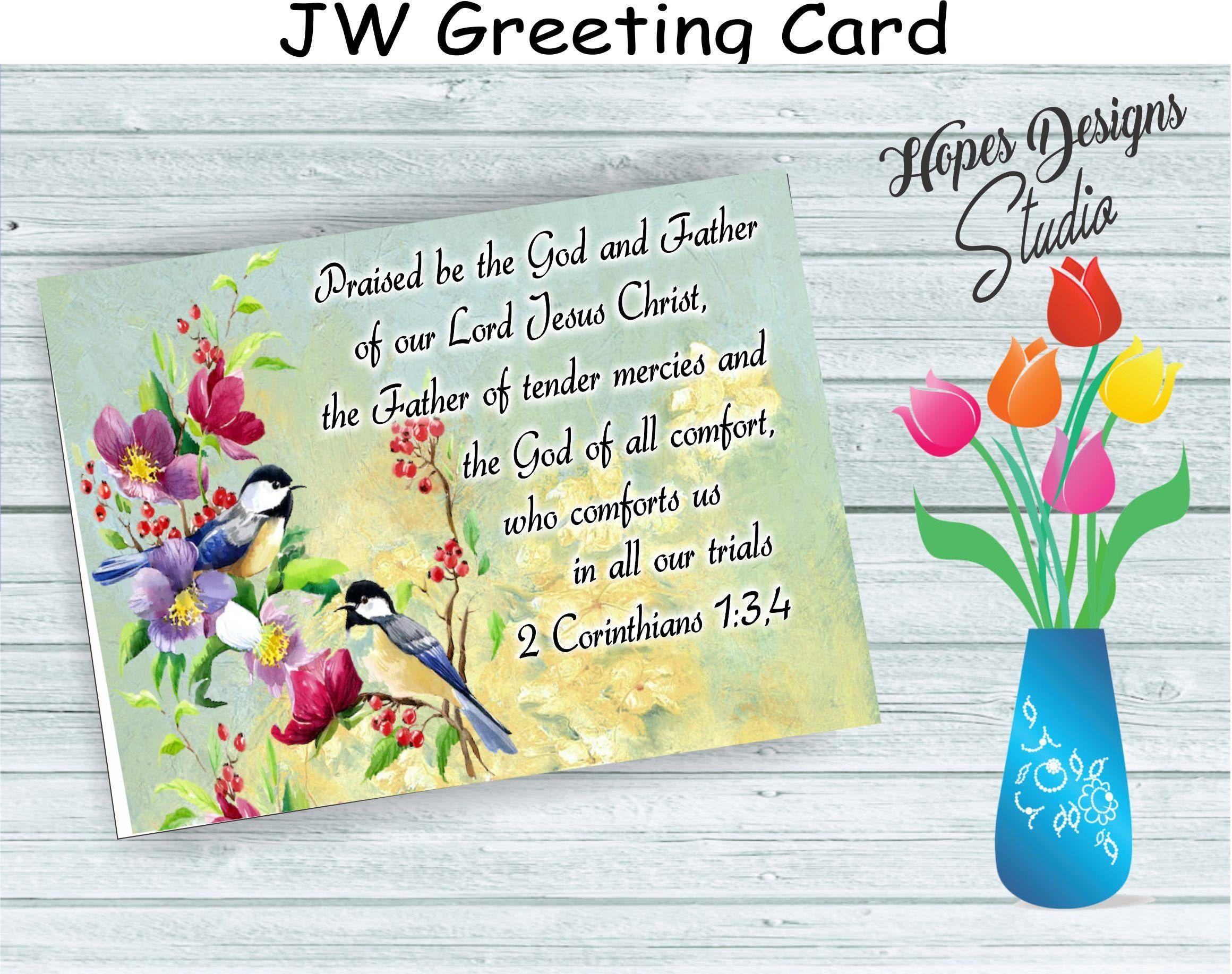 Jw Gifts Jw Greeting Card Praised Be The God Of All Etsy In 2021 Jw Gifts Cards Greeting Cards