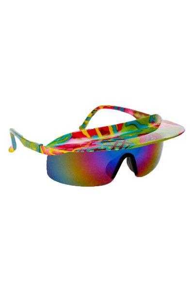 9ea31bf2aa28b Retro 90s Neon Visor Sunglasses