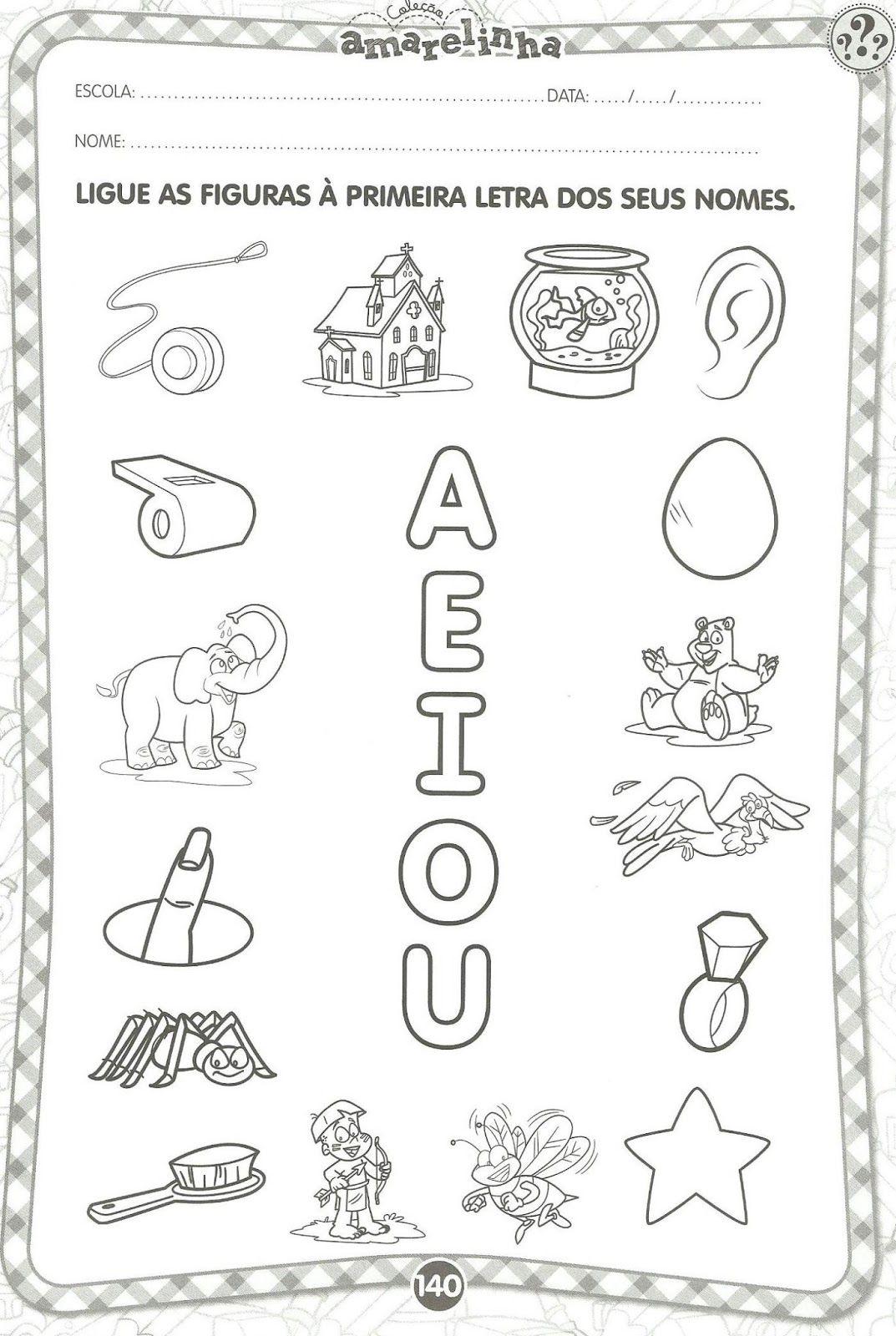 Well-known Atividades Educativas com vogais | Atividades educativas  PC52