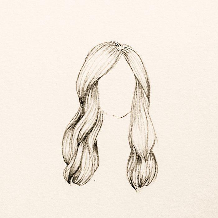 Cabelo Ondulado Mais Longo Cabelo Desenho Desenhos De