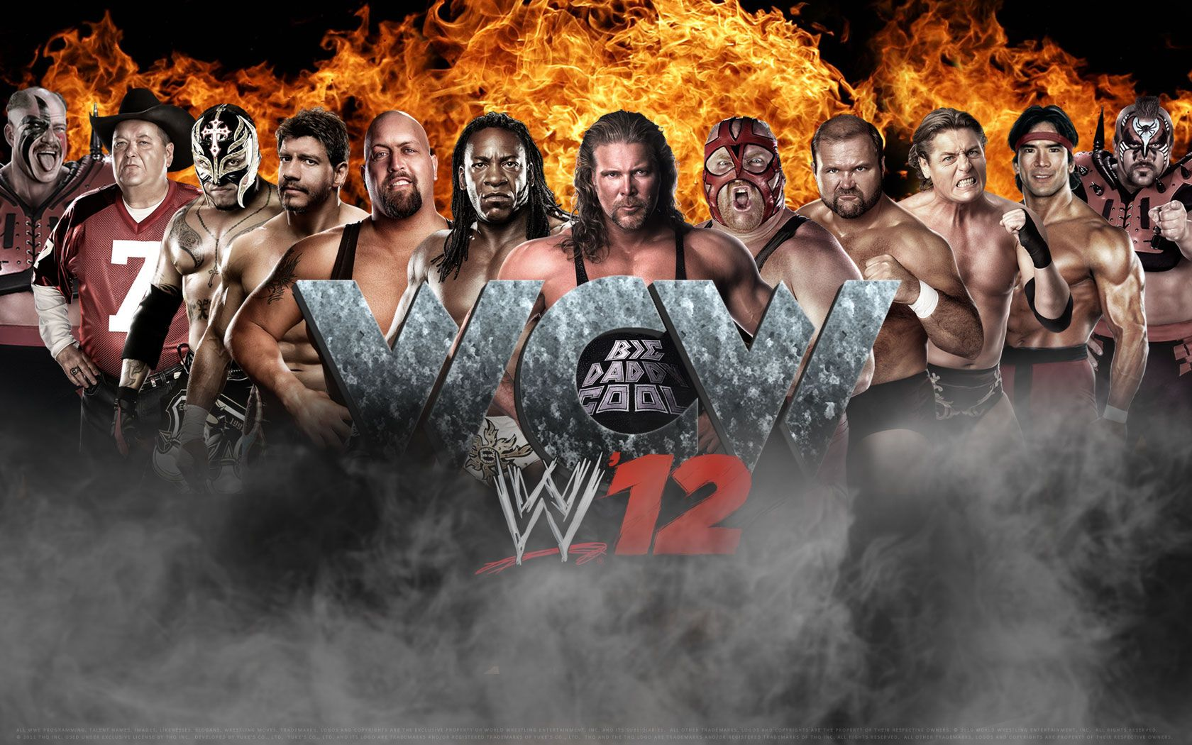 WWE12 Wallpaper WCW Wwe s, Wcw wrestlers, Professional