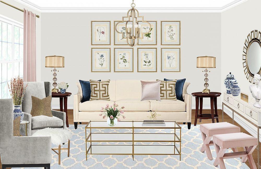 Design By Havenly Interior Designer Lavish Living Room Havenly