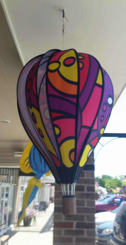 "22"" Hot Air Balloon Spinner Balloon Summer Garden"