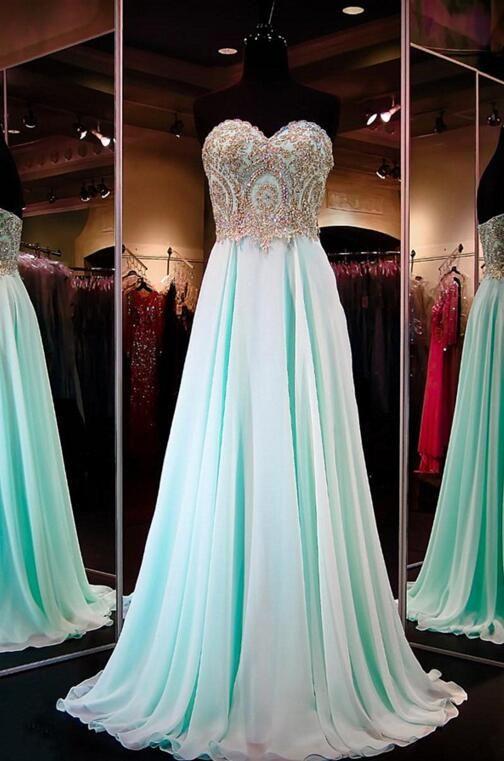 Chiffon Prom Dresses,Evening Dress,Sweetheart Prom Dress,Sequined Prom Dress,Sequins Prom Gown,Sexy Prom Dress,Long Prom Gown,Modest Evening Gowns for Teens