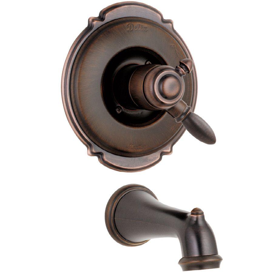 280 At Lowes Delta Victorian Venetian Bronze 1 Handle Fixed Wall Mount Bathtub Faucet