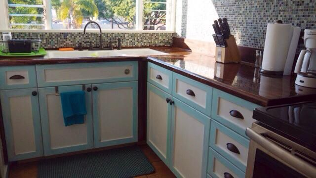 the kitchen, European style cabinets with Douglas fir ...
