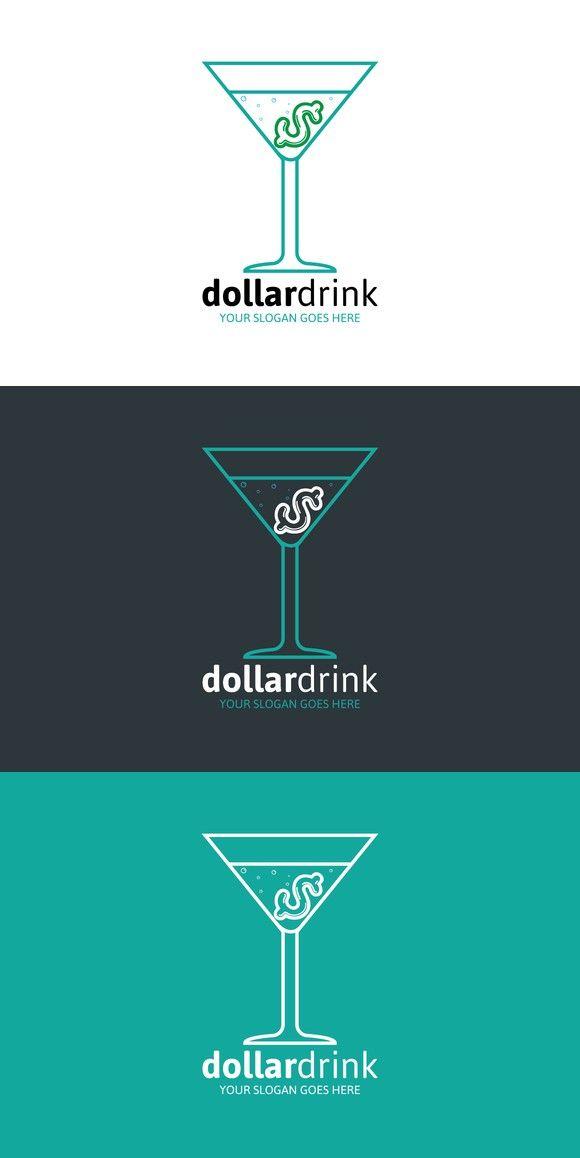 Dollar drink logo logos logo templates and adobe illustrator dollar drink logo pronofoot35fo Choice Image
