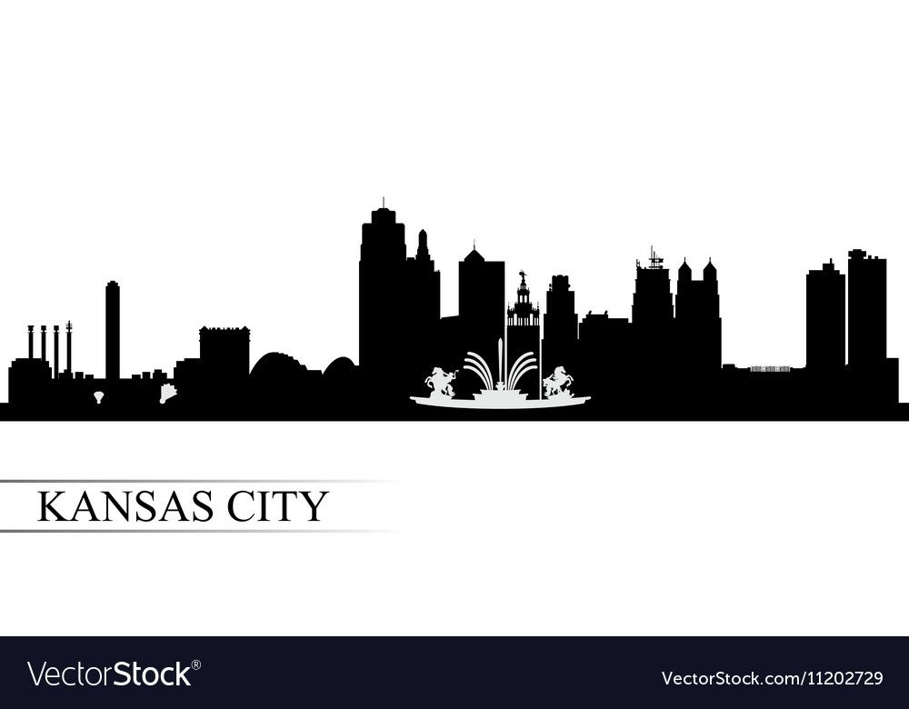Kansas City Skyline Silhouette Background Vector Illustration Download A Free Preview Or High Qual City Skyline Silhouette Kansas City Skyline Kansas City Art
