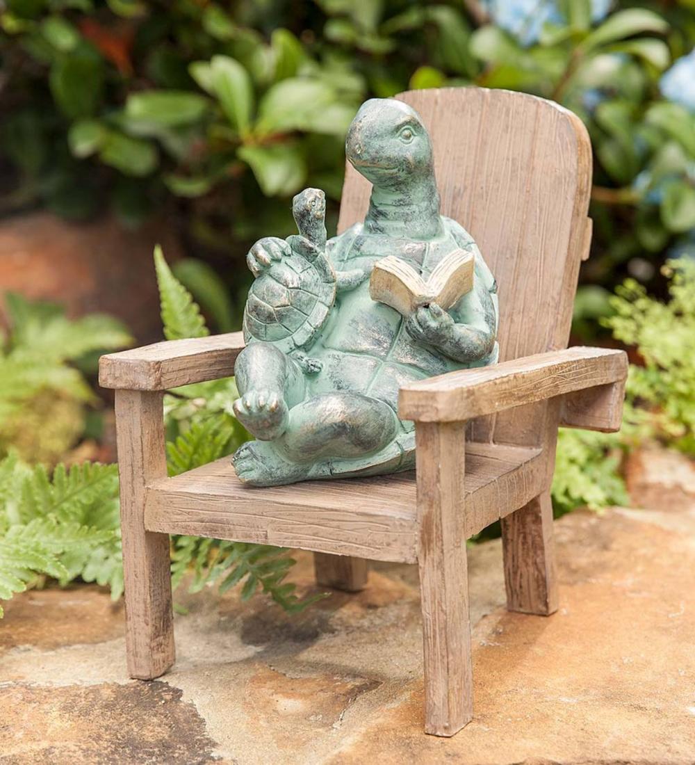 Reading Turtle Garden Statue In 2020 Outdoor Garden Statues Garden Statues Whimsical Garden Art