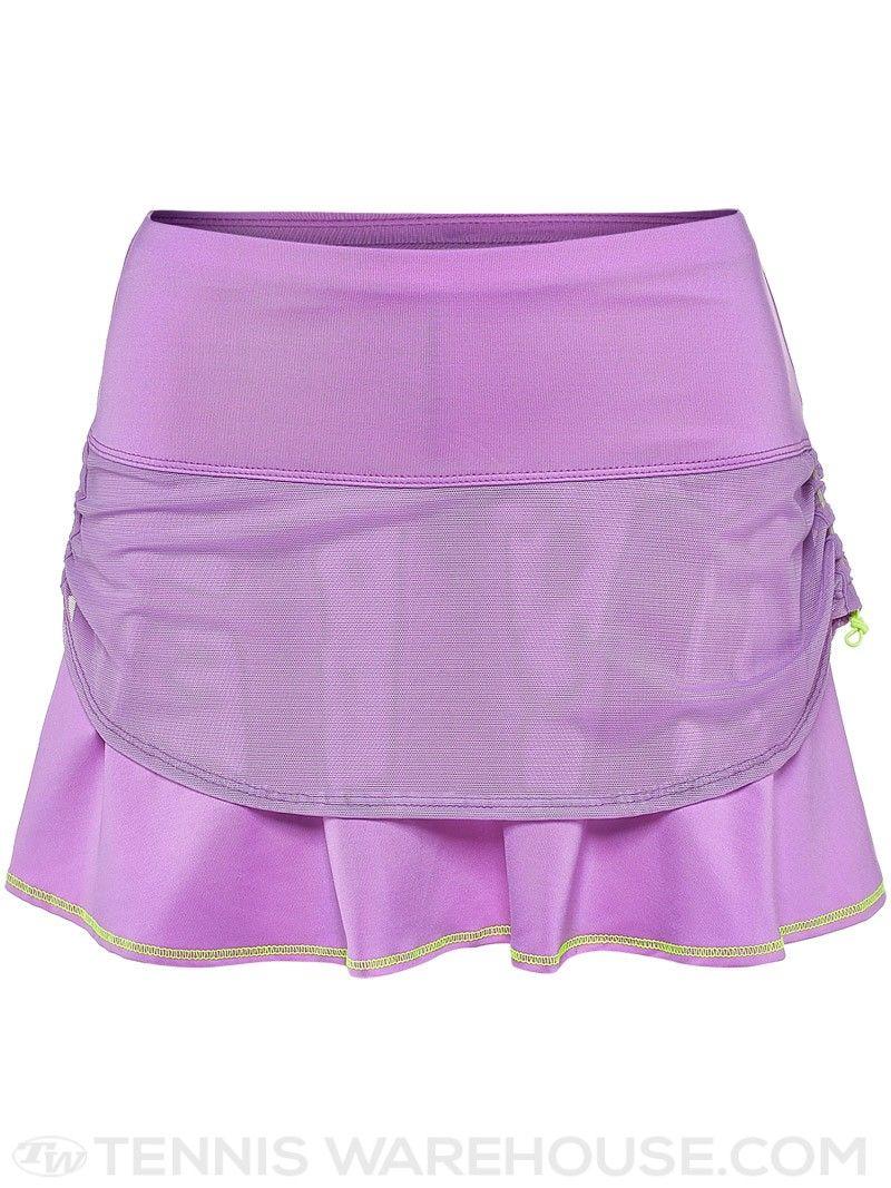 3c7ebf3b62 Lucky in Love Women's Kick-Start Mesh Tier Skirt (Purple) | Tennis Warehouse