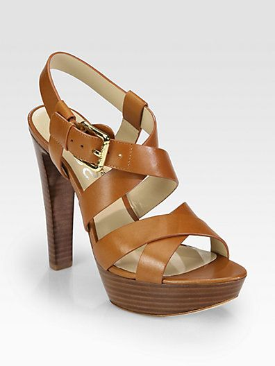 f8ff19ee52f4 Kors Michael Kors - Belle Leather Platform Sandals