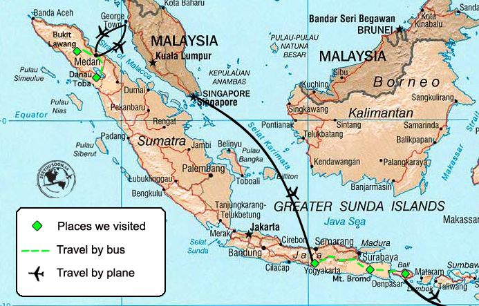 Indonesia travel costs indonesia asia and southeast asia indonesia map gumiabroncs Images