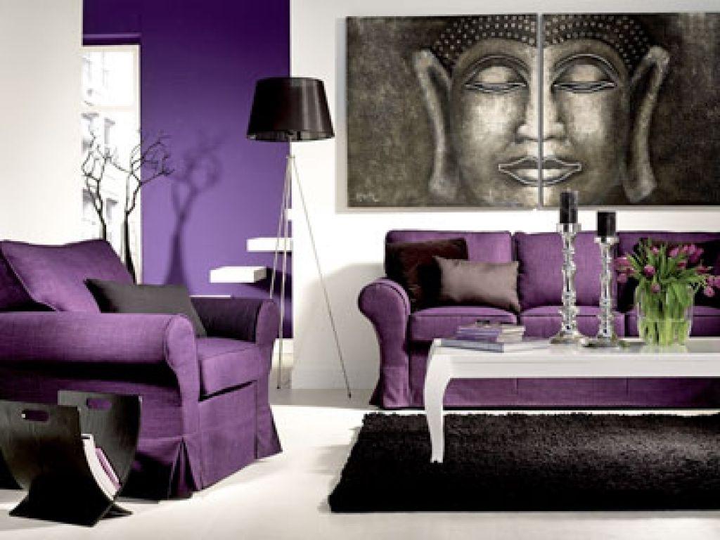 Wohnzimmer Asiatisch ~ Dekoideen wohnzimmer lila wohnzimmer im asiatischen stil hause
