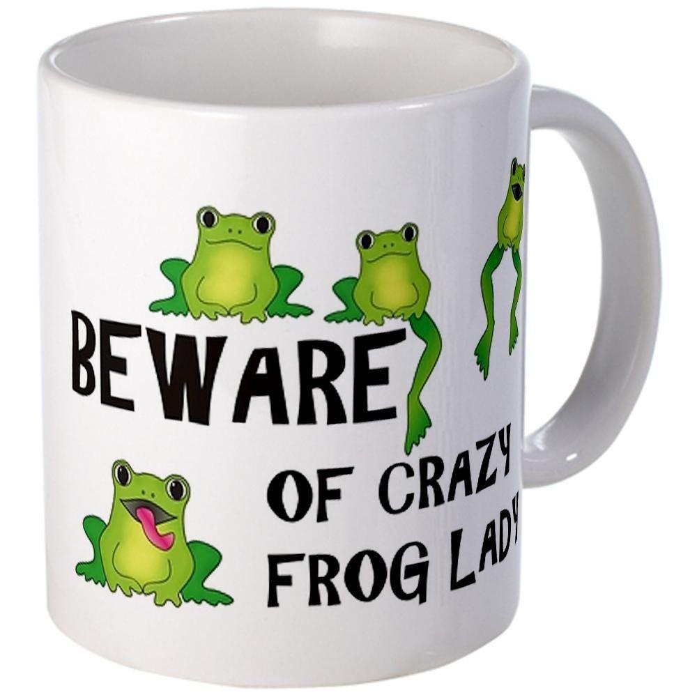Beware of Crazy Frog Lady Coffee Mug Mug by
