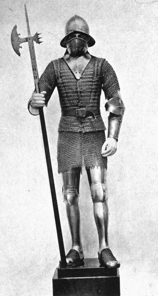 Armadura de hombre de armas español, siglo XV