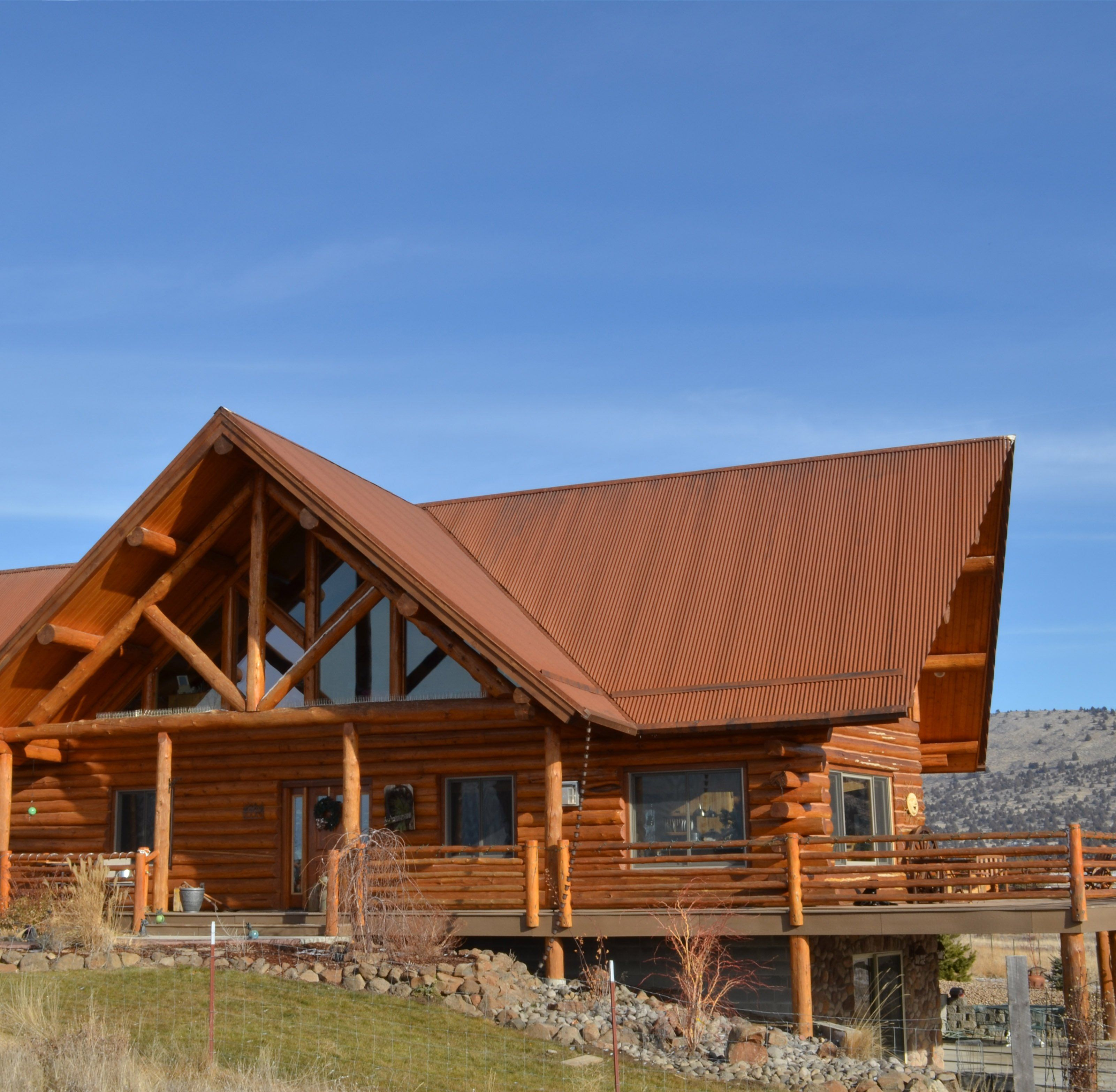Modern House Red Roof: Weathering Steel (With Images)
