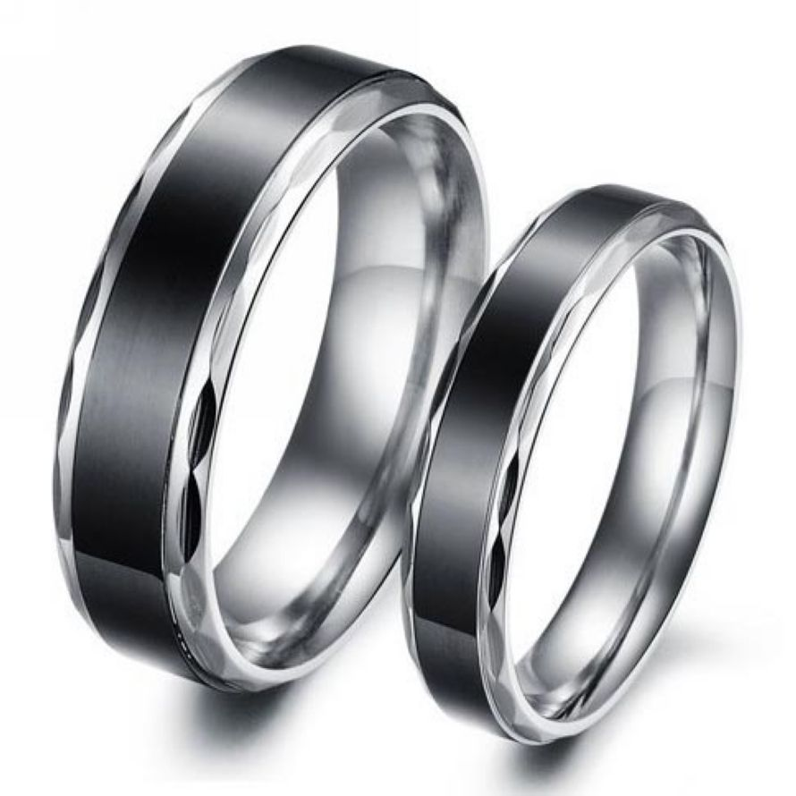 eutour couple bands lover en opk for romantic women engagement rings steel dull ke polished wedding jumia price kenya groove men product stainless from