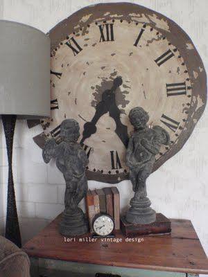 Clock vignette (found at Round Barn Potting Company)