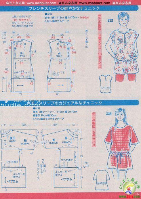 转载]实用裁剪图 | Ideas en costuras | Costura, Patrones y Moldes